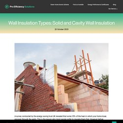 Wall Insulation Types: Solid and Cavity Wall Insulation - Pro Efficiency Solutions