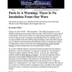 Paris Is A Warning: There Is No Insulation From Our Wars :  Information Clearing House