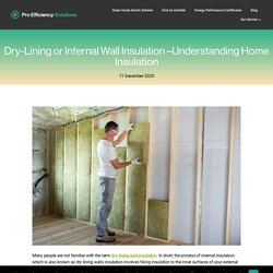 Dry-Lining or Internal Wall Insulation –Understanding Home Insulation - Pro Efficiency Solutions