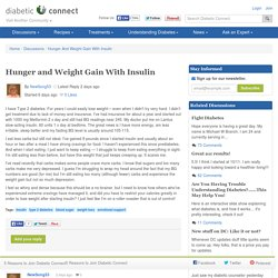 Hunger And Weight Gain With Insulin