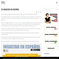 25 insultos en español . Spanish vocabulary for Spanish learners.