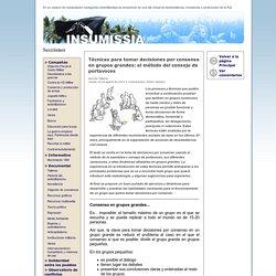 Insumissia - Técnicas para tomar decisiones por consenso en grupos grandes: el método del consejo de portavoces
