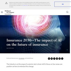 The impact of AI on the future of insurance