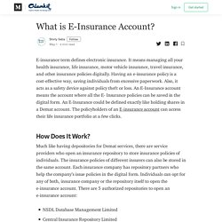 What is E-Insurance Account? - Alankit Scam News - Medium