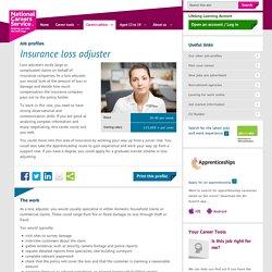 Insurance loss adjuster Job Information