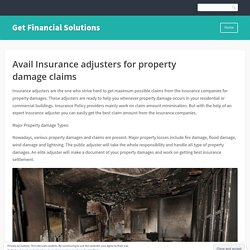 Avail Insurance adjusters for property damage claims
