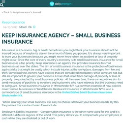 KEEP INSURANCE AGENCY – SMALL BUSINESS INSURANCE