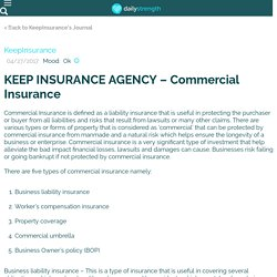 KEEP INSURANCE AGENCY – Commercial Insurance