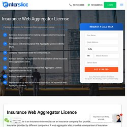 How to Get Insurance Web Aggregator License India