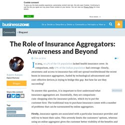 The Role of Insurance Aggregators: Awareness and Beyond