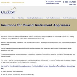 Why You Should Choose Insurance for Appraisers form Clarion Associates, Inc
