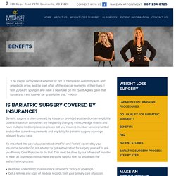 Maryland Bariatric & Laparoscopic Surgeons - Is Bariatric Surgery Covered By Insurance?
