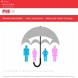 A Guide To Term Insurance And Its Benefits - FINDURSPACE