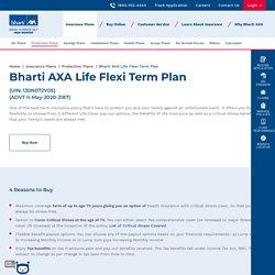 Term Insurance Plan - Bharti AXA Life Flexi Term Plan Online