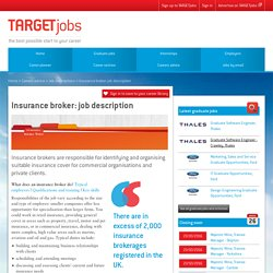 Insurance broker: job description