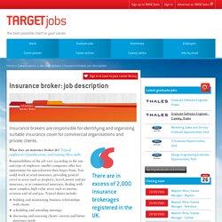 Insurance broker: job description