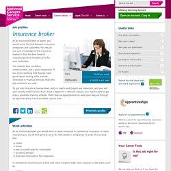 Insurance broker Job Information