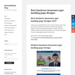 Best business insurance ppv landing page design templates