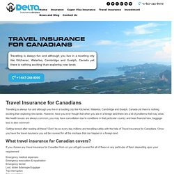 Travel Insurance for Canadians in Kitchener - Delta Insurance Brokers