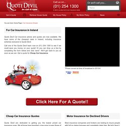Car Insurance Cheap, Motor Insurance Quotes, Ireland