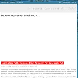 Renowned insurance adjusters in port saint lucie,fl