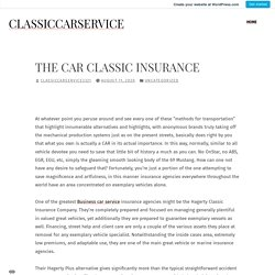 The Car Classic Insurance – Classiccarservice