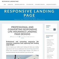 life insurance companies lead capturing html landing pages
