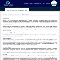 Why do insurance companies fail? - Winsurtech Blog
