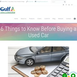Take care of a few things before purchasing a used car