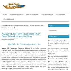 AEGON Life Term Insurance Plan - Compare & Check Reviews