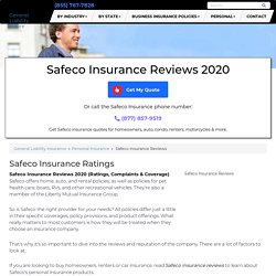 Safeco Insurance Reviews 2020 (Ratings, Complaints & Coverage)