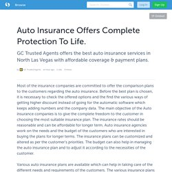 Auto Insurance Offers Complete Protection To Life.