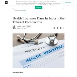 Health Insurance Plans In India in the Times of Coronavirus