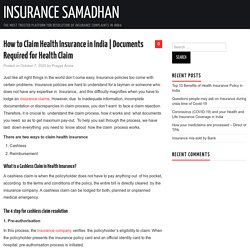 How to Claim Health Insurance in India