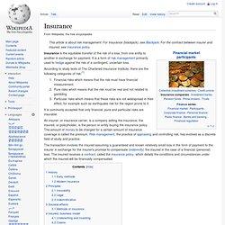 Wiki : Insurance