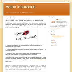 Get excellent & affordable auto insurance quotes online