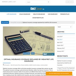 Optimal Insurance coverage explained by IndiaFirst Life Insurance