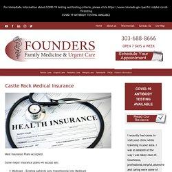 Castle Rock Medical Insurance - Founders Family Medicine