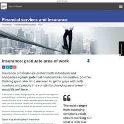 Insurance: graduate area of work
