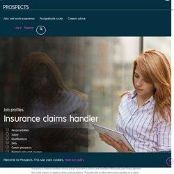 Insurance claims handler job profile