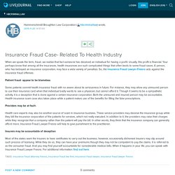 Insurance Fraud Case- Related To Health Industry: hbcriminallaw