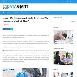 How Life Insurance Leads Are Used To Increase Market Size?
