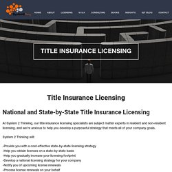 Title Agency Licensing
