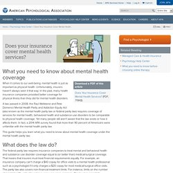 Does Your Insurance Cover Mental Health Services?