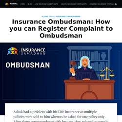 Insurance Ombudsman: How you can Register Complain to Ombudsman