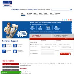Car Insurance Online: Policy, Quotes & Renewal