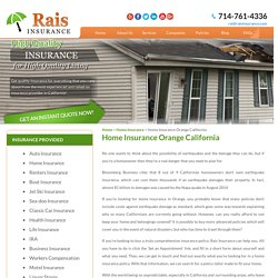 Get quotes for Home Insurance In Orange, California