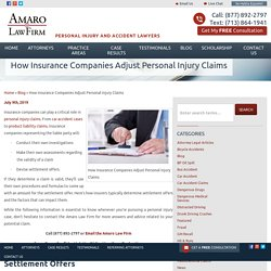 How Insurance Companies Adjust Personal Injury Claims