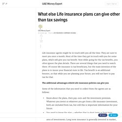 What else Life insurance plans can give other than tax savings