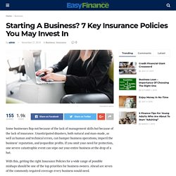 7 Key Insurance Policies You May Invest In By Easy Fianace4u